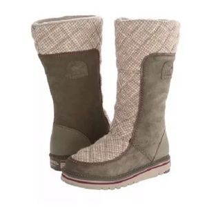 NWOT SOREL Tall The Campus Peatmoss Boots size 7.5